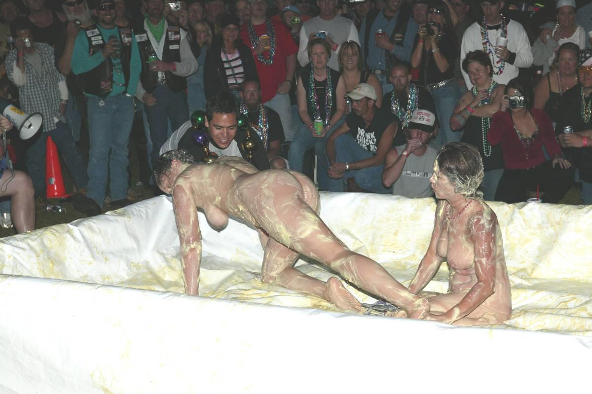 Nude not so good looking women in nighties